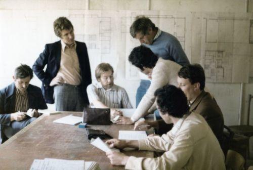 Construction de la salle communale en 1970
